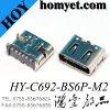 4pin DIP+6pin SMTの短タイプ3.1 USB Cのタイプコネクター