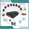 Viver-Vista móvel da sustentação do veículo DVR da gravação da opinião do H. 264 8CH 1080P 3G 4G WiFi GPS