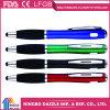 Crayon lecteur de bille en plastique fonctionnel multi de stylo bille de promotion