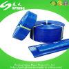 Boyau bleu de l'eau de PVC Layflat de couleur