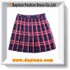 格子縞によってプリーツをつけられるスカートの日本の学校の女の子のスカート(UC816)
