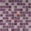Mosaico Hielo-Agrietado blanco estupendo de Grossy de la mezcla de Pueple (CC166)