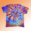 우주 나선형 동점 염료 t-셔츠