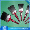 Roter hölzerner Griff-Schwarz-Borste-Bautenanstrichfarbe-Pinsel