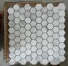 Плитка мозаики шестиугольника белая мраморный каменная (HSM204)