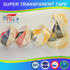 Cinta adhesiva de acrílico estupenda del embalaje del claro BOPP de Hongsu