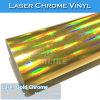 vinilo del abrigo del coche de la película del arco iris del cromo del laser del oro de los 5X65FT