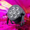 Control de sonido 7x15w rgbaw pared arandela decoración de la boda
