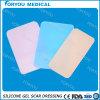 Feuille auto-adhésive réutilisable transparente Sg1008 de cicatrice de silicone