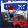 Cadre acrylique rond de luxe de fleur avec le couvercle