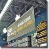 Крытая свисающая капля логоса рекламируя знамя PVC & винила знака