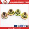 Noix Hex galvanisée de bride de couleur d'ISO4161 Class4.8