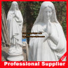 Betende Mary-Marmorstatue Mary gestalten die Madonna Skulptur
