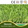 herbe artificielle de pelouse de gazon de certificat de synthétique de 25mm
