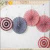 Favores del ventilador del papel del Pinwheel de la flor DIY de la decoración del banquete de boda