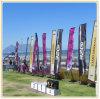 Двойник встал на сторону флаг Teardrop пляжа пера и Поляк (4.5m)