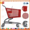 Chariot en plastique de chariot à achats de Plastomer de supermarché de bonne qualité (Zht98)