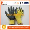 Желтый нейлон с черным нитрилом Glove-Dnn451
