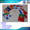 Drapeau de main de nation de polyester (B-NF10F02010)