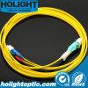 Uniboot LC al amarillo a una cara unimodal óptico de Patchcord de la fibra del LC
