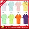 Le corps étendu de blanc de T-shirt d'impression faite sur commande bon marché de T-shirt conçoit le T-shirt