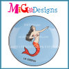 De mooie Schotel van de Ring van de Reeks van de Meermin Oceaan Ceramische