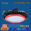 luz de la bahía del UFO de 120W LED alta con el programa piloto de Meanwell LED