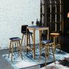 A mobília de madeira elevada preta ajusta a cadeira da tabela e da barra (SP-CT830)