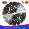 Hoja de sierra diamantada de 230 mm con agujeros de refrigeración para corte de hormigón armado