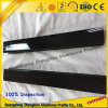 Profil en aluminium de porte coulissante de qualité avec la couleur noire d'électrophorèse