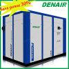 Double compresseur d'air stationnaire à télécommande industriel de vis (ISO&CE)