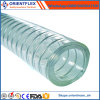 Mangueira reforçada transparente leve espiral do fio de aço do PVC