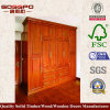 Wardrobe de madeira do quarto do preço justo (GSP9-003)