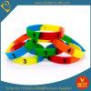 La qualité a personnalisé le bracelet segmenté de silicones de logo d'impression de Chine