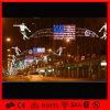 USA Flag LED Outdoor Decoration 2D Motif Across Street Light