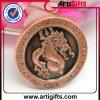 moneta di sfida del metallo 3D con ottone antico placcato