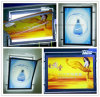 Windows 호리호리한 가벼운 상자를 광고하는 전시에 의하여 새겨지는 로고 LED 아크릴