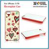 Caja del teléfono celular 2D en blanco galvanizado para iPhone5 / 5s