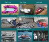 2 a 6,5m Liya Folding Boat China Bote de borracha inflável