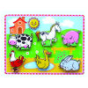 Thick de madeira Puzzle Toy para Baby com Farm Animals (80496)