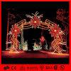 O arco vermelho do diodo emissor de luz ilumina a luz de Natal