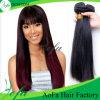 El tejer camboyano del pelo negro del pelo recto de Remy de la calidad superior