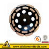 Колесо чашки рядка диаманта двойное для бетона - меля инструментов