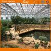 美しいポリカーボネートの温室の庭の温室