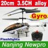 hélicoptère de 20cm 3.5CH RC avec le gyroscope, structure d'alliage, lampes-torches, pièces de rechange libres (2009-5)