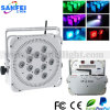 12X10W RGBW 4 In1 Wireless DMX Battery LED Wedding PAR Light