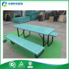 Bench를 가진 내구재 & Antirust Finished Outdoor Metal Table 또는 Table & Bench (FY-276X)