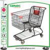 Carretilla americana de las compras del supermercado del estilo con las buenas ruedas