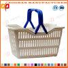 Loja de cosméticos promocionais de alta qualidade Supermercado Handle Shopping Basket (Zhb119)