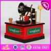 Украшения коробка 2015 нот для подарка промотирования, Handmade деревянной игрушки нот рождества природы, горячей коробки нот W07b020b малыша Carousel надувательства